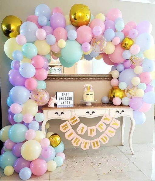 Bàn quà sinh nhật màu pastel đơn giản XV528
