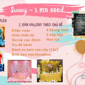 Trang trí sinh nhật trọn gói Sunny -  3.950.000