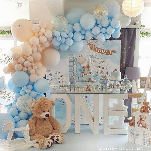Bàn quà thôi nôi gấu bông xanh dương BBX591