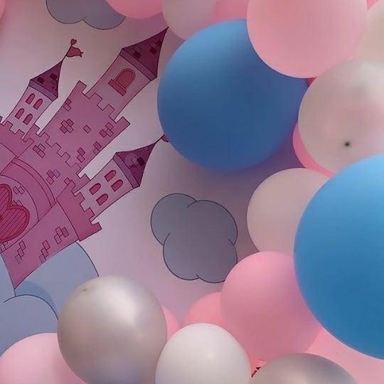 Backdrop bàn quà sinh nhật lâu đài của công chúa