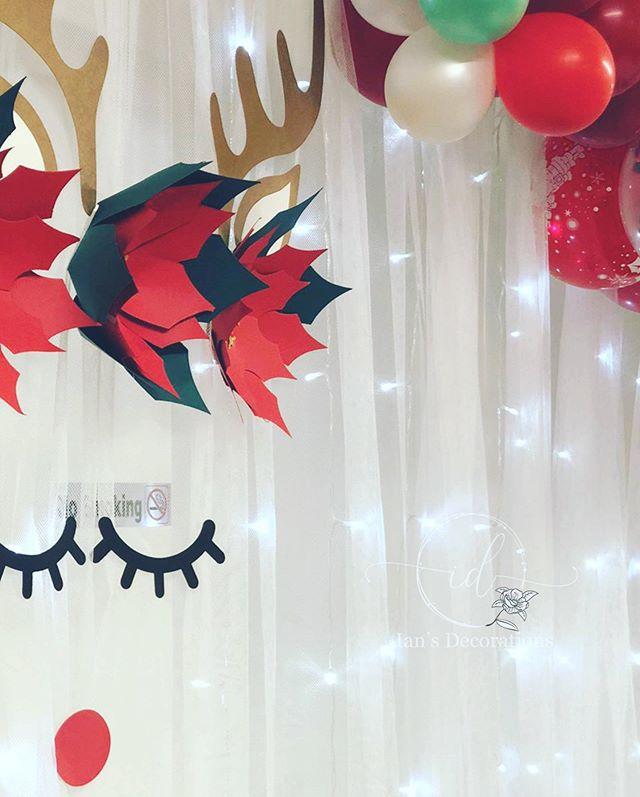 Backdrop tuàn lộc đi cùng bàn quà sinh nhật mùa giáng sinh XV563
