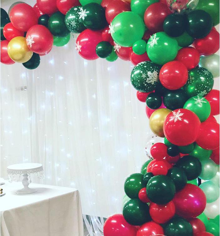 Dây bong bóng trang trí bàn quà sinh nhật mùa giáng sinh XV563