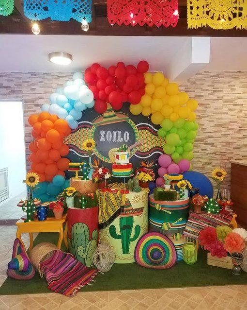 Trang trí bàn quà sinh nhật Mexico XV567