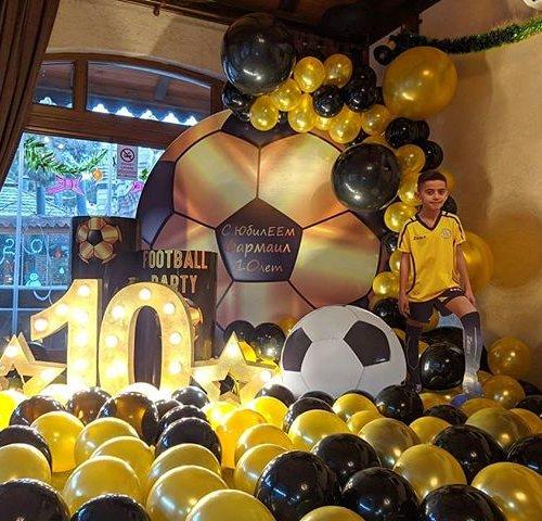 Tiểu cảnh sinh nhật chủ đề bóng đá XV560