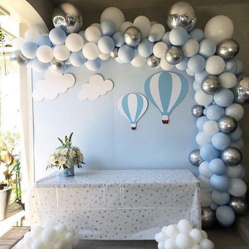 Bộ sản phẩm trang trí tiểu cảnh khinh khí cầu bong bóng XV574