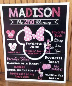 Chalkboard sinh nhật chuột Minnie XV580