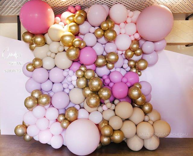 Tường bong bóng sang trọng trang trí backdrop sinh nhật XV601