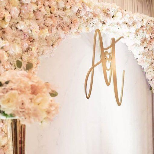 Backdrop tiệc cưới hoa tươi lãng mạn XV611