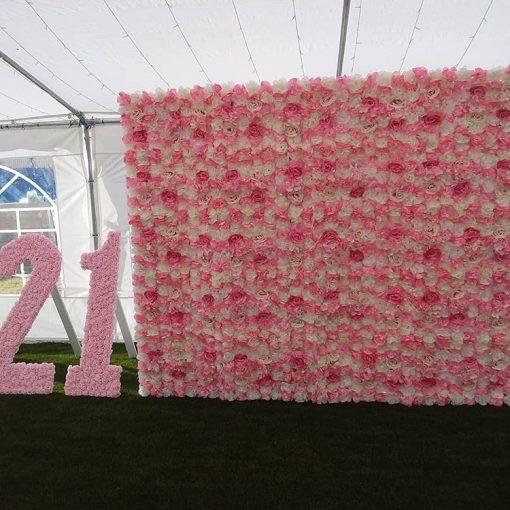 Backdrop sinh nhật hoa giấy XV619