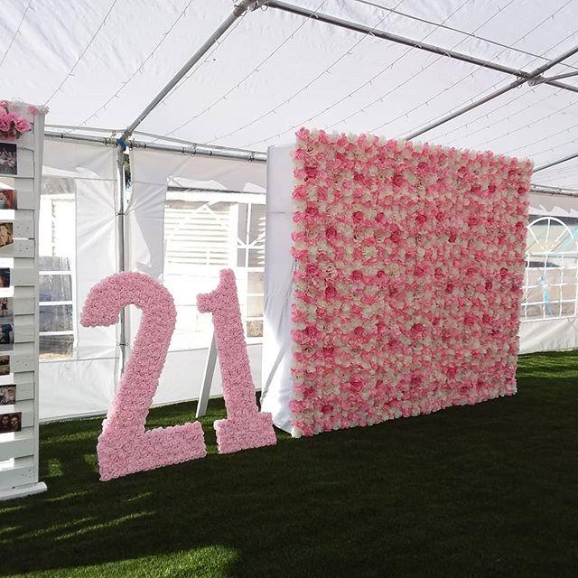 Backdrop sinh nhật hoa giấy góc nhìn 1 XV619