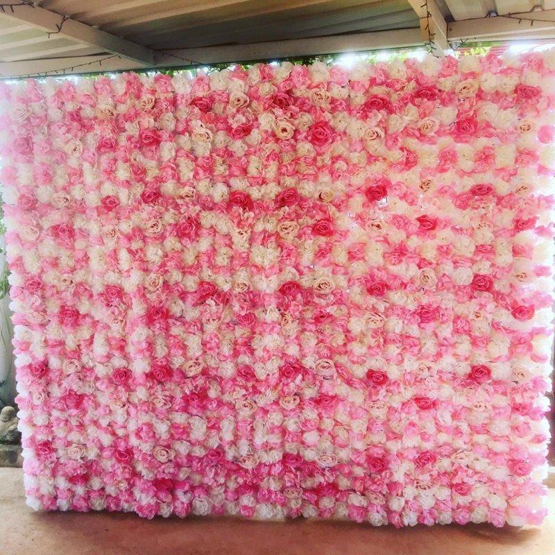 Backdrop sinh nhật hoa giấy góc nhìn 2 XV619