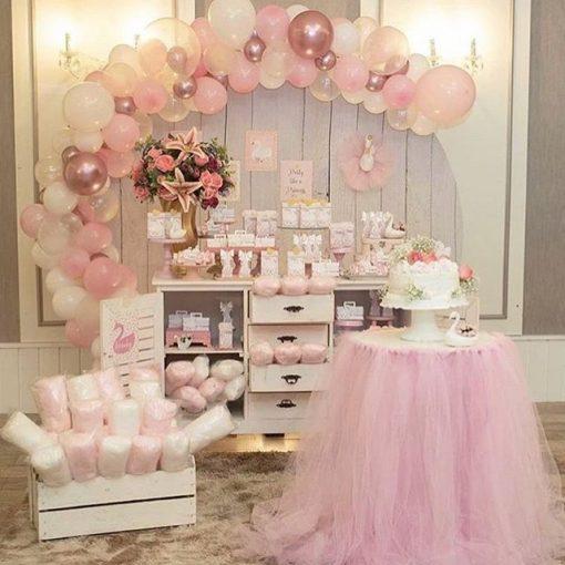 Bàn quà sinh nhật hồng pastel XV638