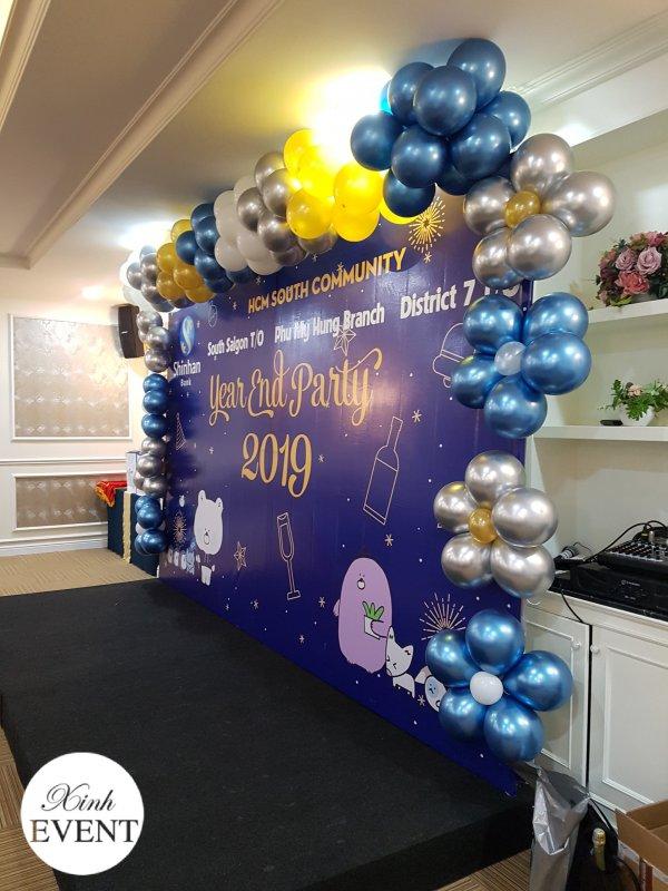 Backdrop trang trí sự kiện tất niên công ty XV651