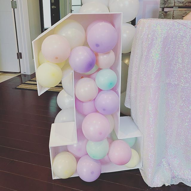 Chữ số bong bóng 3D màu pastel XV652