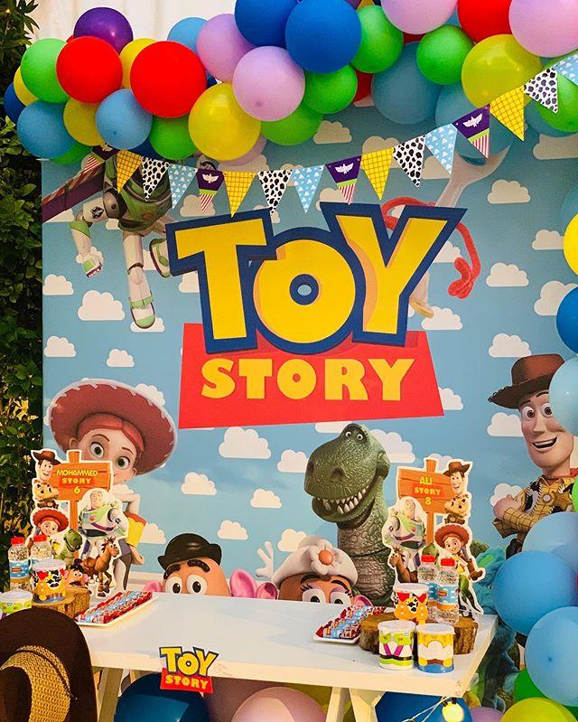 Backdrop sinh nhật chủ đề Toy Story XV668
