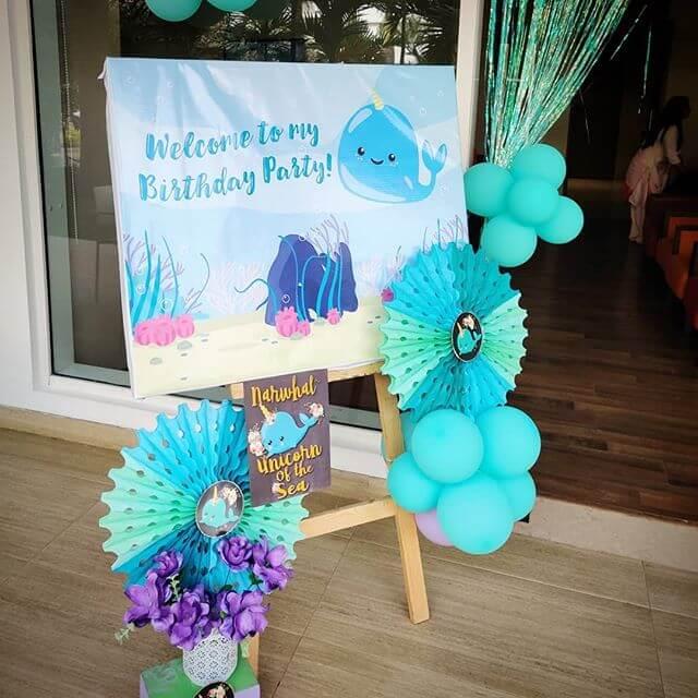 Chalkoard sinh nhật kỳ lân biển XV700