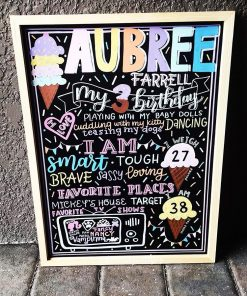 Chalkboard sinh nhật kem lạnh XV647