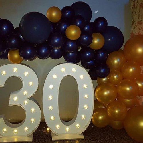 Tiểu cảnh bong bóng và chữ số 3D đèn led XV670
