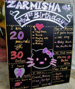 Chalkboard sinh nhật mèo Kitty XV641