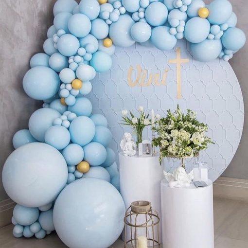 Bàn quà sinh nhật bong bóng xanh dương XV584