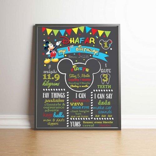 Phụ kiện sinh nhật chalkboard chuột Mickey XV666