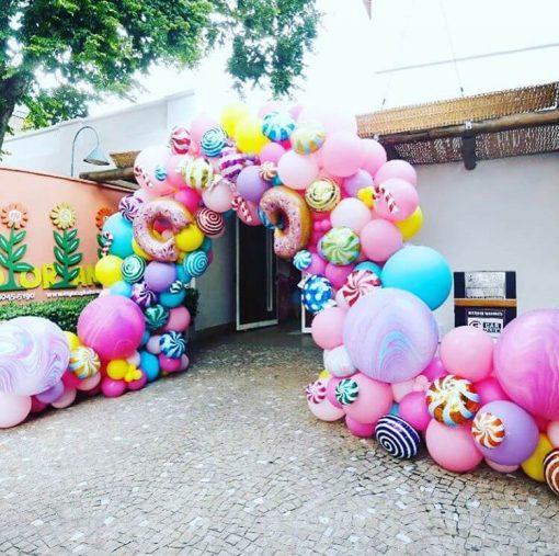 Cổng chào sinh nhật bong bóng bánh kẹo XV671