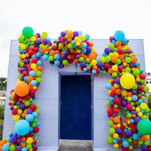 Cổng sinh nhật bong bóng cung bong bóng bay đầy màu sắc XV675