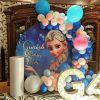 Backdrop sinh nhật Elsa trong Frozen XV691