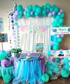 Bộ sản phẩm trang trí bàn quà sinh nhật kỳ lân biển XV700