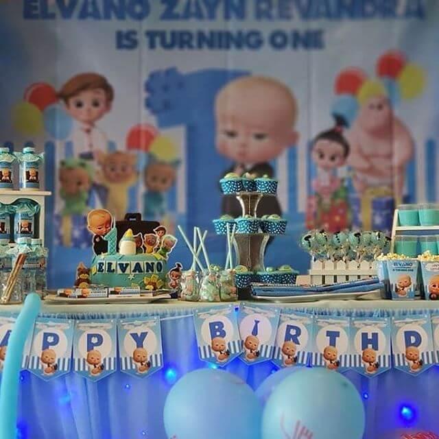 Trang trí sinh nhật trọn gói the boss baby góc nhìn 1 XV701