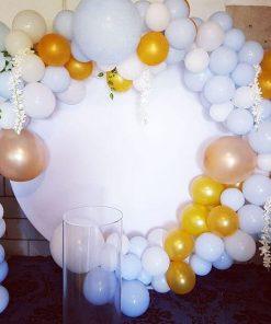 Trang trí backdrop sinh nhật tròn bằng format XV682