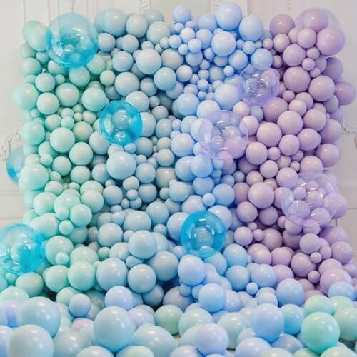 Tường bong bóng xanh dương tím XV709