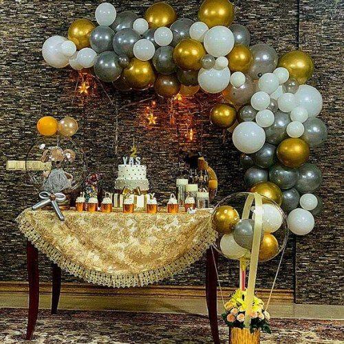 Trang trí bàn quà sinh nhật sang trọng XV696