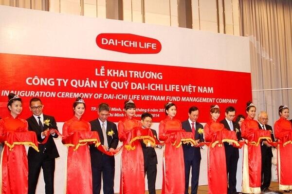 Backdrop khai trương công ty quản lý quỹ DAI-ICHI LIFE Việt Nam