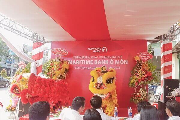 Mẫu backdrop MARITIME BANK Ô MÔN