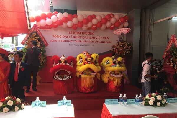 Mẫu khai trương của Tổng đại lý BHNT DAI-ICHI Việt Nam