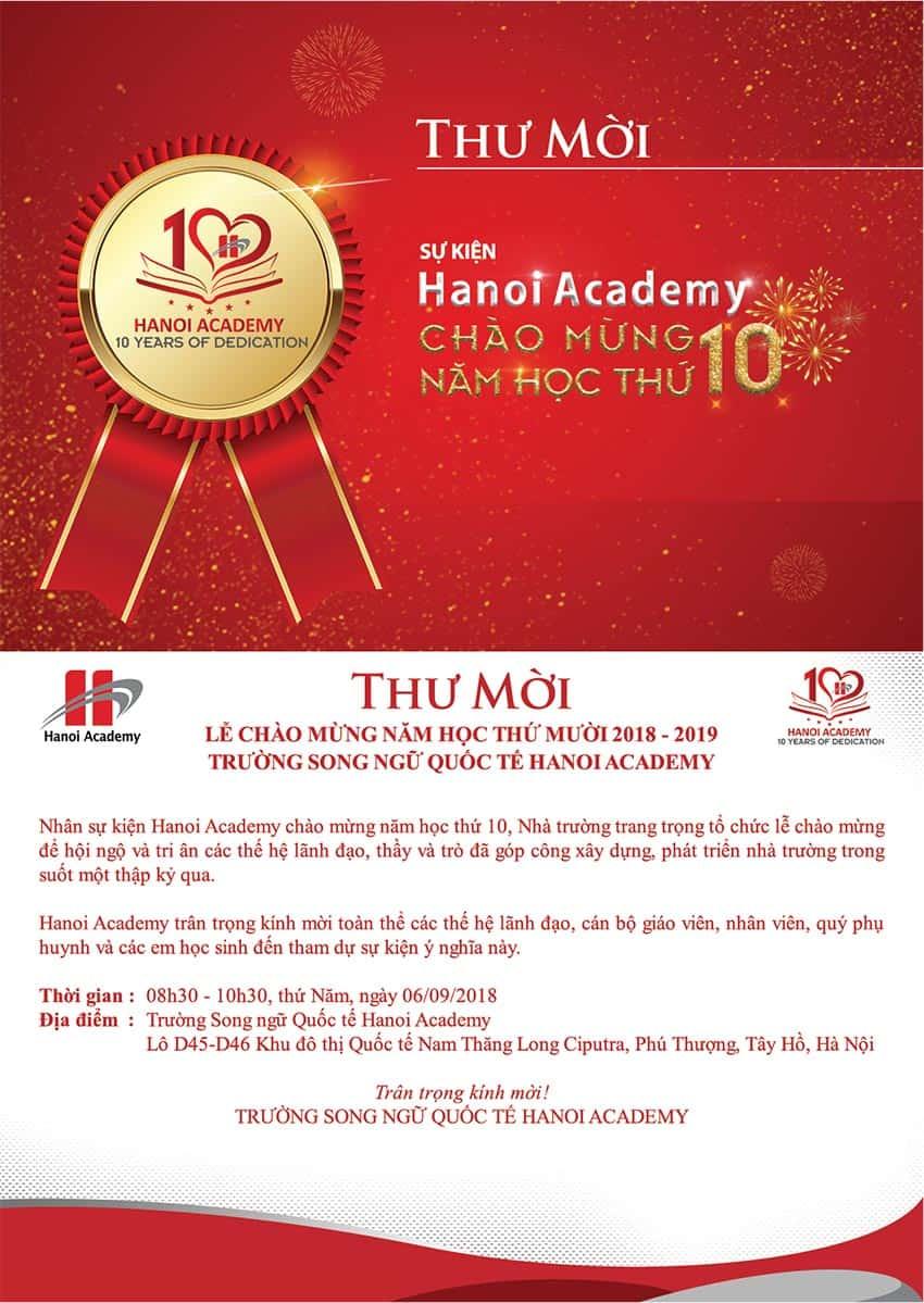 Thư mời tham dự sự kiện Hanoi Academy