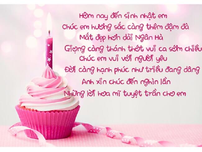 Bài thơ hay và ý nghĩa tặng sinh nhật người yêu