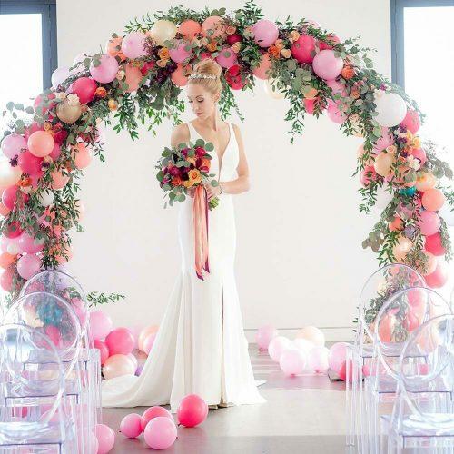 Cổng chào tiệc cưới lung linh XV730