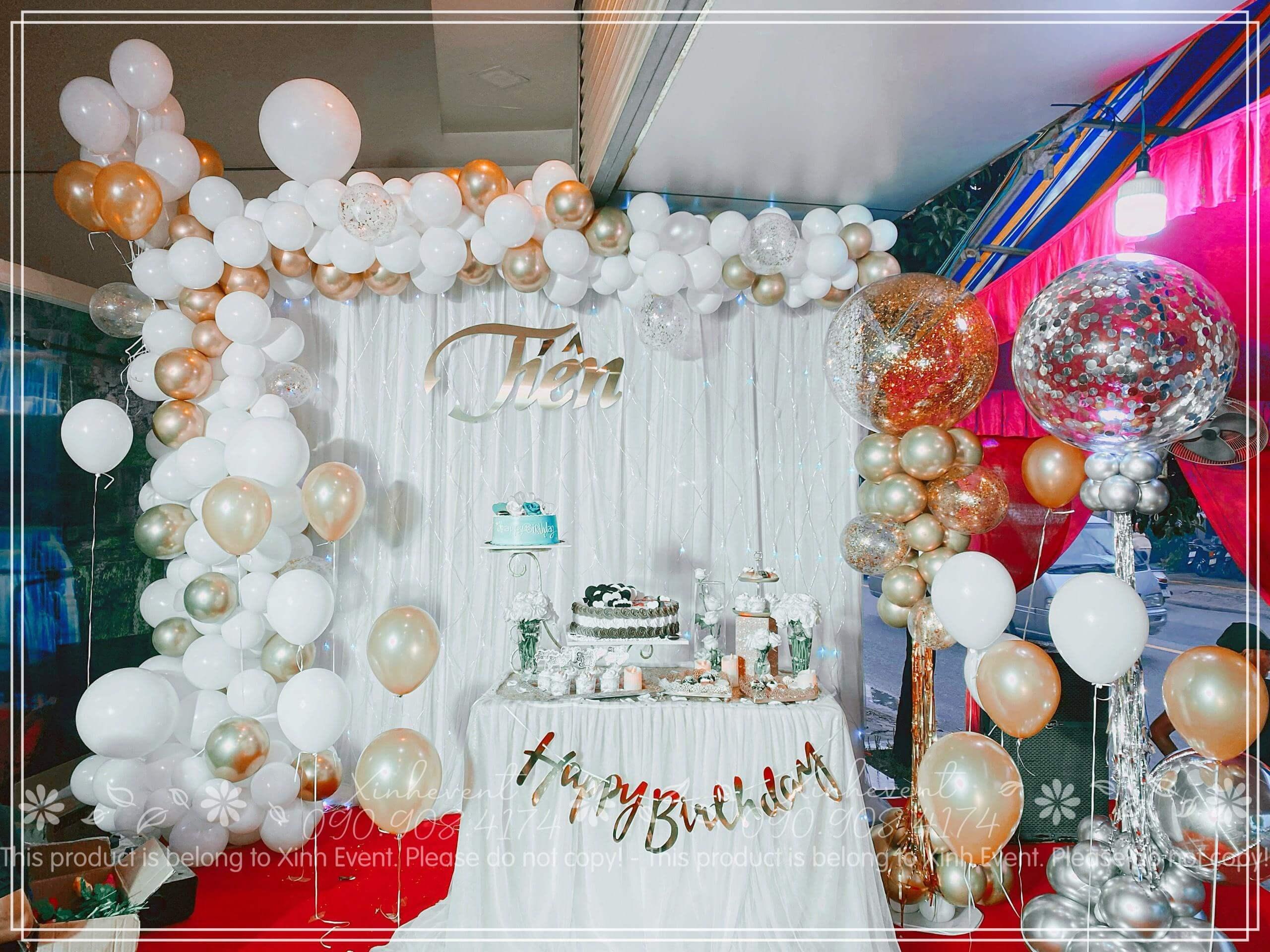 Hình ảnh xinh đẹp của sản phẩm trang trí sinh nhật Tiên