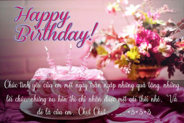 Những câu nói chúc mừng sinh nhật người yêu ngọt ngào - cho bạn trai