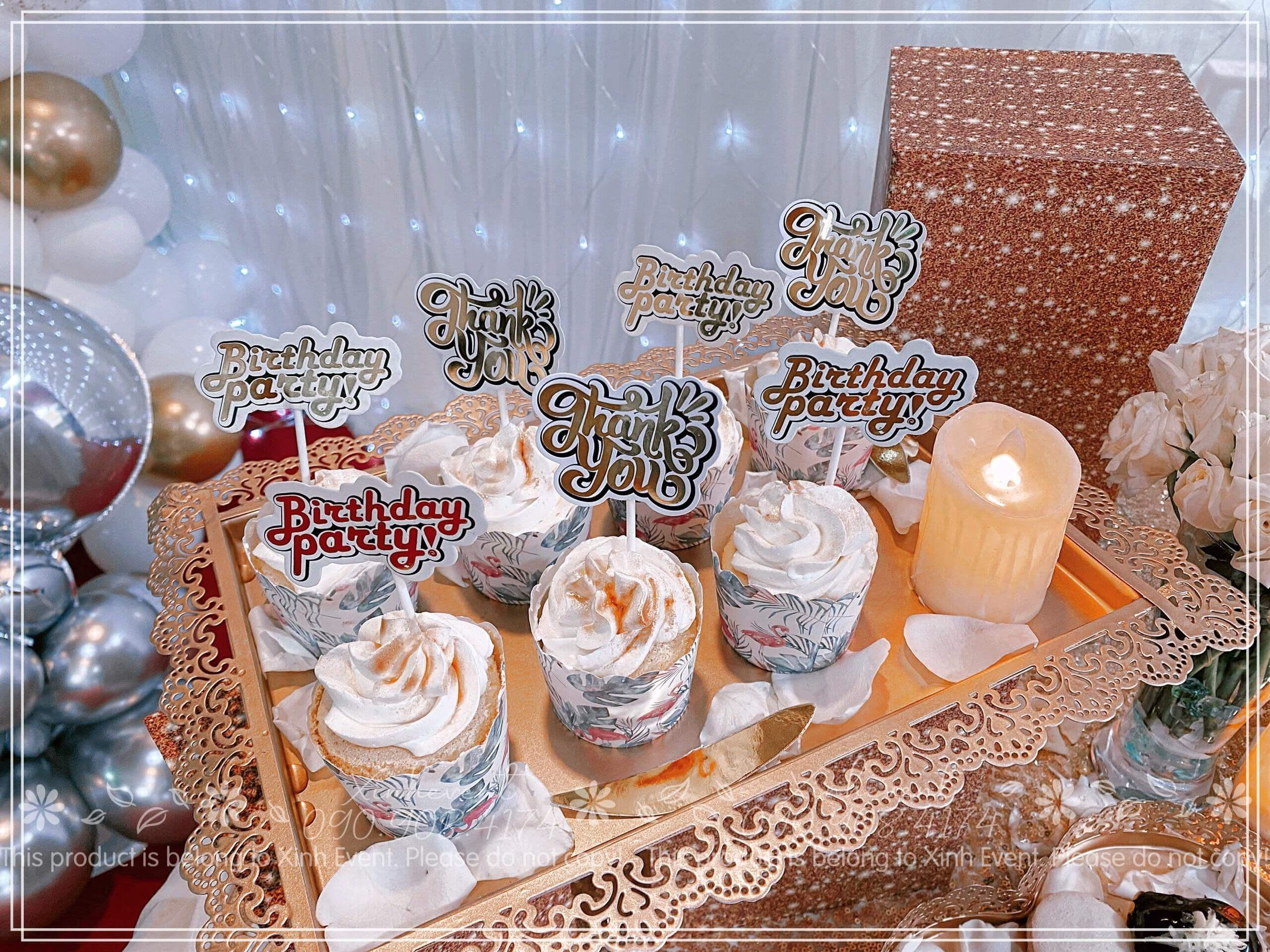 Những chiếc bánh xinh đẹp góp phần tạo nên buổi tiệc sinh nhật thành công