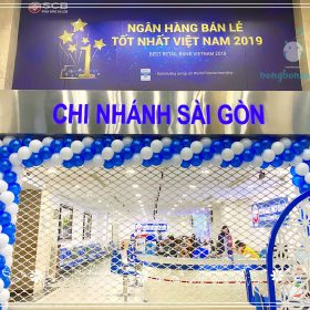 Trang trí khai trương ngân hàng SCB Sài Gòn