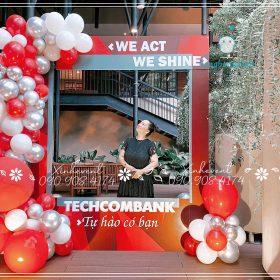 Trang trí sự kiện ngân hàng Techcombank