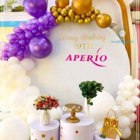 Trang trí sinh nhật 19th Aperio đơn giản mà sang trọng