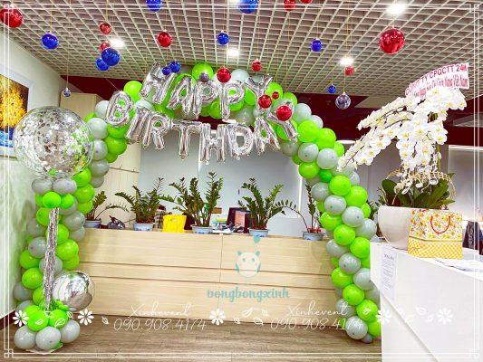 Trang trí sinh nhật công ty CPQCTT 24H