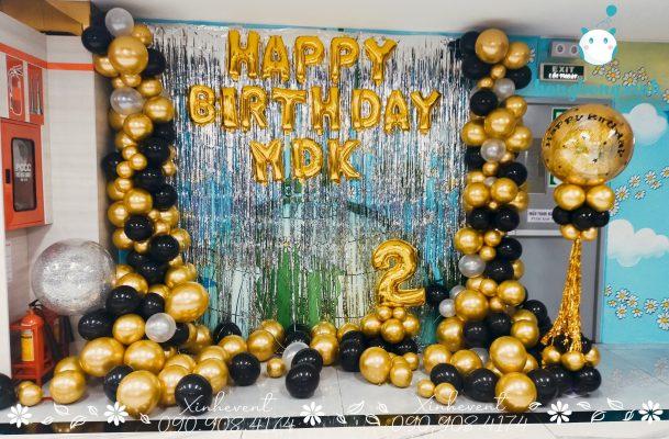 Trang trí sinh nhật công ty MDK