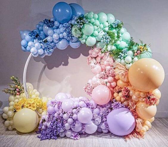 Backdrop sinh nhật nhiều màu sắc XV734
