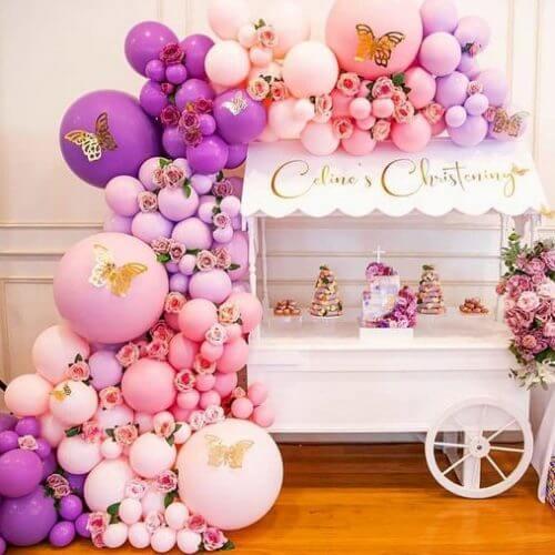 Backdrop trang trí sinh nhật cho bé gái XV733