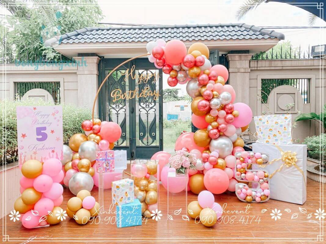 Backdrop trang trí sinh nhật tuyệt đẹp cho bé Katerina